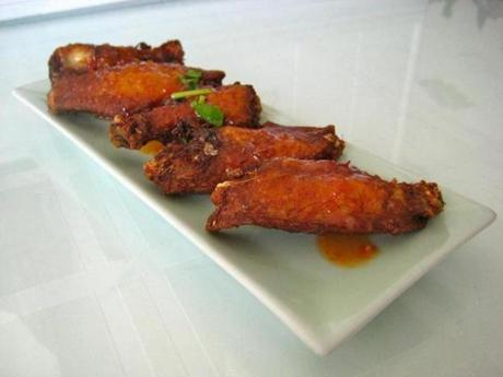 Sticky wings.